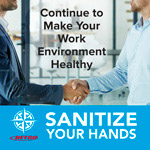 Sanitize your hands poster 13X20