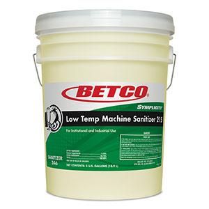 Low Temp Machine Sanitizer 215 (5 GAL Pail wFitment)