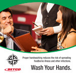 Wash your hand placing your order poster