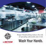 Wash your hands in Kitchen poster
